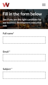 rate web form